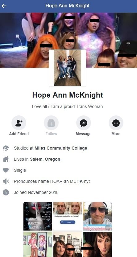 Hope Ann McKnight - Facebook Profile