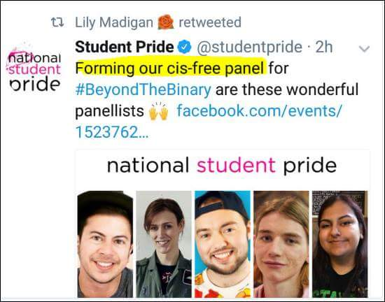 "Lily Madigan celebrates ""cis-free"" panels"