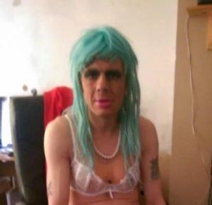 Richard Grattige cross-dressed as Vicky Green
