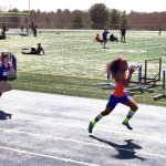 Terry Miller leads in track meet