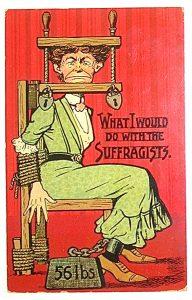Anti-Suffragette postcard, circa 1909.